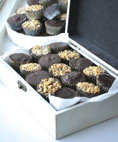 Guilt-free Peanut-Cream Dark Chocolates