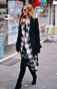 Blazer: Zara . Coat: Vintage . Overknees: Zara