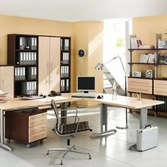 Charming Home Office Layout Design