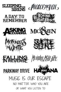 Bands omg. YES<3