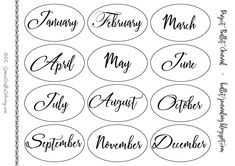 Free printable calendar large - free printable calendars, 2 x small - free bullet journal doodles and word art