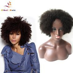 Unprocessed Virgin Brazilian Full Lace Wigs Short afro curly Human Hair Wig Lace Front Wig Glueless Baby Hair For Black Women