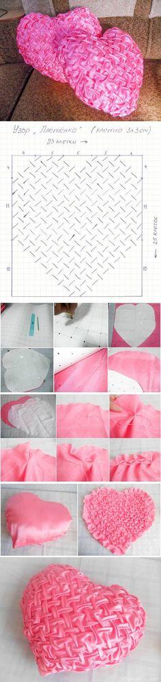 DIY Stylish Heart Pillow
