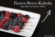 Frozen Fruit Treats | The Earthy Mama