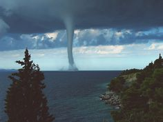 Waterspout on the west coast.