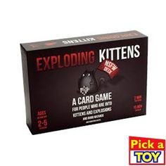 Exploding Kittens Card Game - NSFW (Explicit) Edition - Party Games - Card Games for Adults Party Card Games, Adult Party Games, Adult Games, Fun Games, Games For Kids, Funny Christmas Gifts, Christmas Humor, Sans Serif, Exploding Kittens Card Game