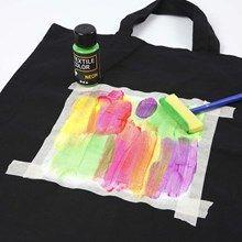 13132 Textilkasse, dekorerad med Textil Color, neon