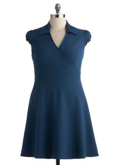 Office We Go Dress in Teal - Plus Size, #ModCloth