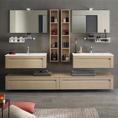 meuble salle de bain unique wood 90cm - Meuble Salle De Bain Unique Onde