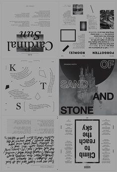 "StudioKxx Krzysztof Domaradzk Design // Of Sand and Stone layout // ""Climb to reach the sky, Cardinal Sun"""