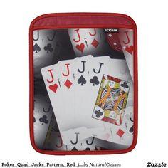 Poker_Quad_Jacks_Pattern,_Red_iPad_Sleeve Sleeve For iPads
