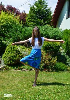 Spódnica ManuEla - trapez. - Manushop - Ubranka dla dzieci #manu #skirts #flowers #Manushop #Wasiuczyńska