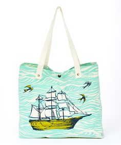 9be28d59c545 Another great find on  zulily! Mint Ocean Tote  zulilyfinds Surf Room