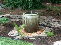 Urn Fountain purchased from Southern Grace. Installed by the customer. Most of our fountains can be installed by the homeowner in less than 2 hours. Watch the installation video on our web-site. WE SHIP  540 948-2239