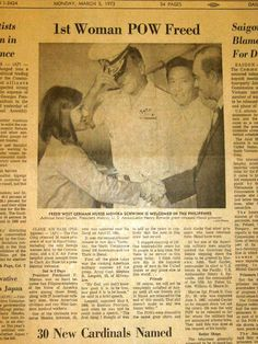 """Women POW's - During the Vietnam War Monika Schwinn, a German nurse, was held captive for three and a half years - at one time the only woman prisoner at the """"Hanoi Hilton""""."""
