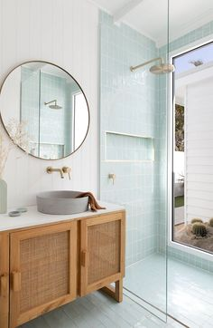 California Dreaming Bathroom — Adore Home Magazine Bathroom Goals, Laundry In Bathroom, Bathroom Renos, Bathroom Interior Design, Home Interior, Interior Plants, Bathroom Inspiration, Home Decor Inspiration, House And Home Magazine