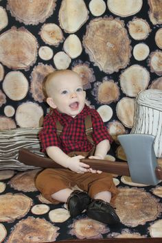 A lumberjack-themed first birthday party, so cute and clever!