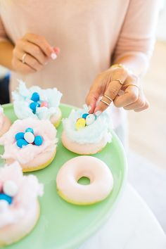 Easter Treats: Candy-Coated Rice Krispies, White Chocolate Bark and Cotton Candy Donuts | Lauren Conrad