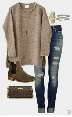 winter sweater - Fashion Ideas WORK-OUTFITS 20 Outfit Ideas on What to Wear to Work When It's Raining fall outfits casual Mode Outfits, Fashion Outfits, Fashion Ideas, Edgy Outfits, Skirt Outfits, Fashion Styles, Fashion Clothes, Jeans Outfits, Over 40 Outfits