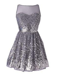 Delia's Allover Silver Sequin Dress: 30 Fancy Homecoming Party Dresses: Trendspotting: teenvogue.com