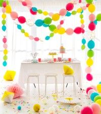 Make this Linked Balloons Party Garland for a birthday party, baby shower or other celebration event. cool easy DIY project.
