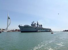 """""""Royal Navy carrier HMS Illustrious entering for the last time, 22 July 2014 Hms Illustrious, South East England, Navi, Navy Ships, Isle Of Wight, Aircraft Carrier, Royal Navy, Portsmouth, Hampshire"""