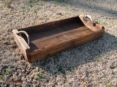Pallet wood tray with deer antler handles by me. Pallet Wood, Wood Pallets, Wood Tray, Deer Antlers, Cabins In The Woods, Hunting, Crafty, Home Decor, Deer Horns