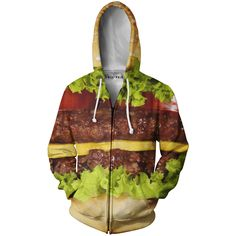 Burger Zip-Up Hoodie from Beloved Shirts
