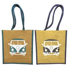 Campervan Gift - Single Campervan Portrait Jute Reusable Shopping Bag, £4.95 (http://www.campervangift.co.uk/single-campervan-portrait-jute-reusable-shopping-bag/)