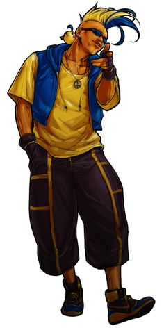 King-Of-Fighters-XI-Game-Character-Official-Artwork-Duck-King.jpg (550×1100)