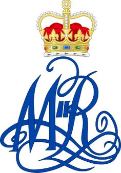 Royal Monogram of Queen Mary II of Great Britain