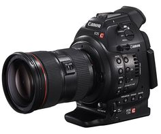 Canon EOS C100. revolutionized the way pros and amateurs shoot HD video. Now Canon has introduced the C series, cinema cameras made purely for video. The prosumer C100 model features EF mount lens options plus Canon's proven CMOS sensors and DIGIC DV III Image Processor. Available November 2012.
