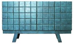 Ceto Tall Sideboard, Turquoise | Store, Serve, Display | One Kings Lane
