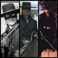 Beautiful beautiful The three are EL Zorro's Each born to be EL Zorro!! Complete!!! Guy Williams - Armand Catalano, Alan Delon, Duncan Regehr This is my very own personal opinion!! Three of the best, born to be EL Zorro's!!! Mrs Susan Ansley??? here in New Zealand Imagine these three men in a movie together, three EL Zorro's, real fantasy!!!