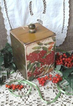 Купить Набор из 2 коробов Ягодный  для кухни в стиле кантри - короб для кухни, ягоды, кантри