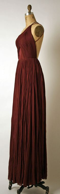 Evening dress, Madame Grès (late 1960s- mid 1980s). Silk.
