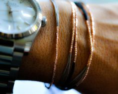 Slate Gray Silk on Silver friendship bracelet