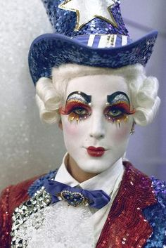 See boylesque performers Duke Lafayette and Prince Poppycock perform with the woman who made burlesque hip again at the House of Blues this week. Circus Makeup, Clown Makeup, Halloween Makeup, Adult Halloween, America's Got Talent, Burlesque, Kim Brown, Pierrot Clown, Face Paint Makeup