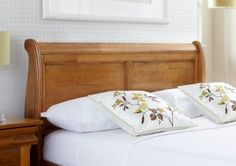 40e18ba3f79e2 Louie Wooden Sleigh Bed - Oak Finish - Light wood - Wooden Beds - Beds
