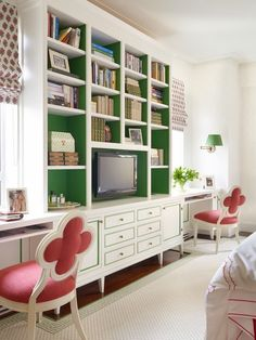 Mix and Chic: Cool designers alert- Celerie Kemble and Mimi Mcmakin! Green in master