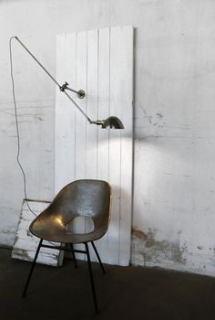 Pretty much in love with different types of metal for home decor especially this bronze-y chair...