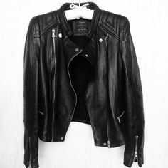 Zara leather jacket ...