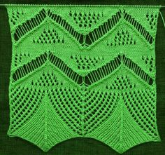 Fallmaschenmuster Lace Knitting Patterns, Knitting Stiches, Free Knitting, Crochet Stitches, Stitch Patterns, Knit Crochet, Knit Edge, Knitted Shawls, Animal Print Rug