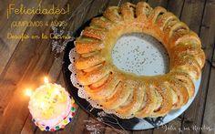 roscas, panes, masas, Julia y sus recetas, rosca rellena,