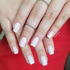 Combinações para unhas francesinhas, veja os esmaltes usados pelas manicures Manicures, Nails, Pedicure, Nail Art, Beauty, Amanda, Minnie Mouse, Natural, White Nail Beds