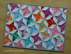 Friendship Star–A Focus Through the Prism Project QUILTING Challenge, June