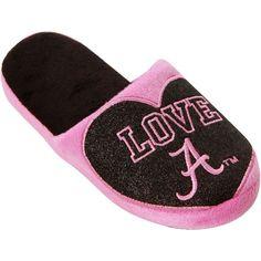 Alabama Crimson Tide Girls Youth Love Glitter Slide Slippers – Pink/Black - $14.99