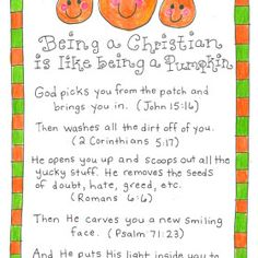 Being a Christian Is Like Being a Pumpkin – FREE Printable! – Happy Home Fairy – Halloween Ideas – Grandcrafter – DIY Christmas Ideas ♥ Homes Decoration Ideas Object Lessons, Bible Lessons, Christian Halloween, Happy Home Fairy, Church Activities, Bible Activities, Preschool Bible Crafts, Religion Activities, Nanny Activities