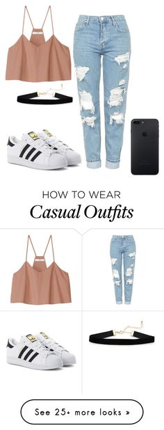 """Can we be 500?? ❤❤ Casual look "" by pilu-04 on Polyvore featuring TIBI, Topshop and adidas Originals"