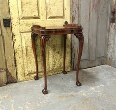 Tall Side Table, Chippendale, Vintage Accent Table, Ornate Table, Unique Decor by VintageHipDecor on Etsy